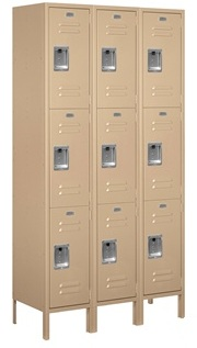 3 Tier Metal Lockers