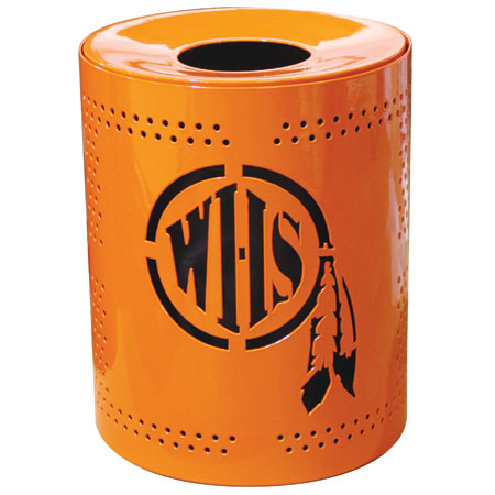 32 Gallon Personalized Perforated Trash Receptacle