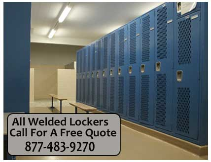 Commercial Discounted All Welded Metal Lockers For Sale - FREE Space Planning CAD Drawing With Every Quote