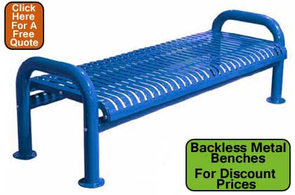 Backless-Metal-Benches