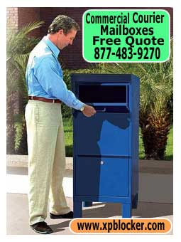 Commercial-Courier-Mailbox-Blue