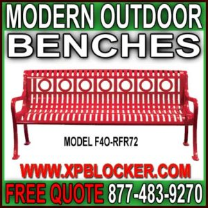 Modern Outdoor Park Benches For Sale Direct From The Manufacturer Will Save You Time & Money!