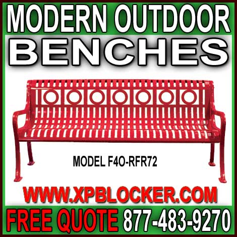 Commercial Modern Outdoor Benches For Sale Direct From The Manufacturer Will Save You Time & Money!