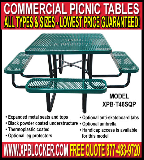 Discount Commercial Picnic Tables Manufacturer Direct Prices