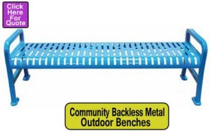 Community-Backless-Metal-Benches