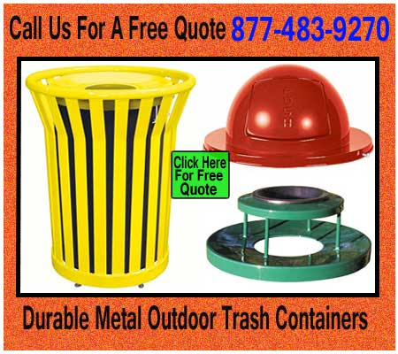 Durable-Metal-Outdoor-Trash-Containers