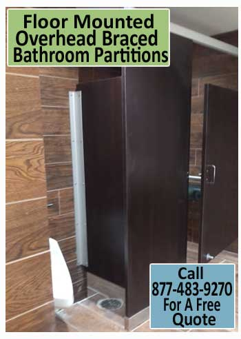 Commercial Floor Mounted Overhead Braced Bathroom Partitions For Sale Direct From Manufacturer Saves You Money Today!