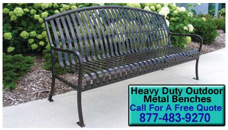 Heavy-Duty-Outdoor-Metal-Benches