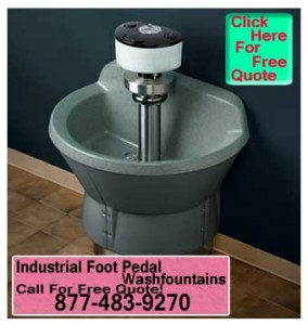 Commercial Foot Pedal Wash Fountains On Sale Now!