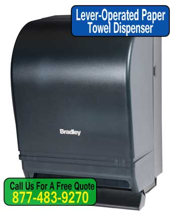 Lever-Push-Operated-Paper-Towel-Dispenser