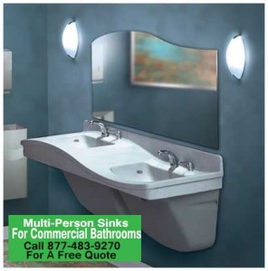 DIY Multi Person Lavatories For Commercial Bathrooms For Sale Factory Direct Wholesale Prices