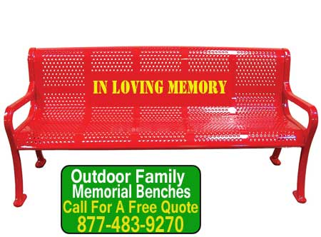 Customized Outdoor Family Memorial Benches For Sale Direct From The Manufaturer