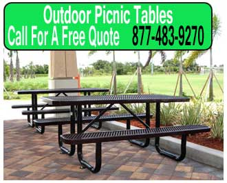 Outdoor-Metal-Picnic-Tables