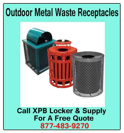 Outdoor-Metal-Waste-Receptacles