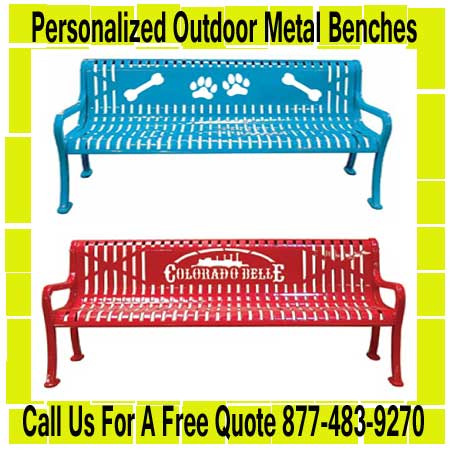 Personalized-Outdoor-Metal-Benches