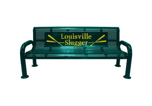 Multi-Color Personalized U-Leg Metal Bench