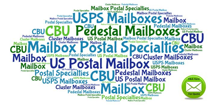 Commercial USPS Approved Post Mounted Cluster Mailboxes For Sale - Manufacturer Direct Prices