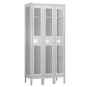 Single Tier Vented Metal Lockers