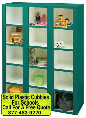 Solid-Plastic-Cubbies-For-Schools