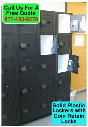 Solid-Plastic-Lockers-With-Coin-Retain-Locks