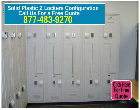 Solid-Plastic-Z-Locker-Configuration