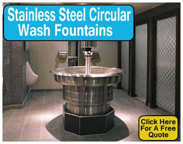 Commercial Stainless Steel Circular Restroom Wash Fountains For Sale Manufacturer Direct Discount Pricing Saves You Money
