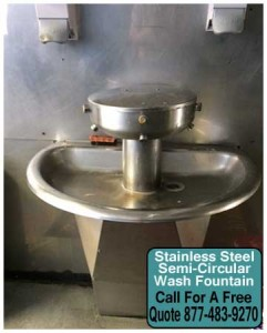 Wholesale Commercial Stainless Steel Wash Fountains For Sale Direct From The Manufacturer Means Low Price Guaranteed