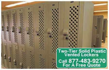 Two-Tier-Solid-Plastic-Vented-Lockers