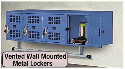 Discount Vented Wall Mounted Metal Lockers For Sale At Cheap Direct From The Manufacturer Pricing Saves You Money Today!
