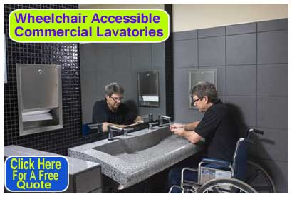 Ada Commercial Lavatories Are Wheelchair Accessible Amp On