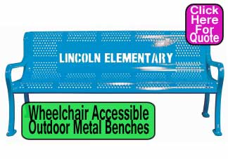 Wheelchair-Accessible-Outdoor-Metal-Benches