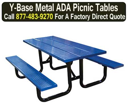 Metal ADA Compliant Commercial Outdoor Picnic Tables For Sale Direct From The Manufacturer Saves You Money Today!