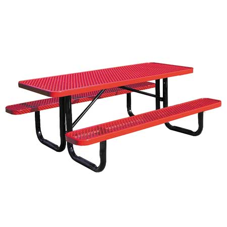 Commercial metal outdoor picnic tables for outside public areas expanded metal picnic table commercial watchthetrailerfo