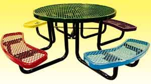 commercial outdoor childrens picnic tables