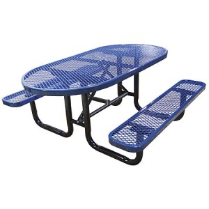 Wholesale Oval Outdoor Metal Park Picnic Tables For Sale Factory Direct Guarantees Lowest Prices