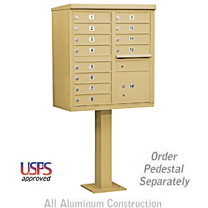 We sell CBU mailboxes to both commercial and residential communities