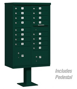 16 Door Cluster Mail Box Unit