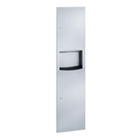 Stainless Steel Paper Towel Dispenser and Waste Receptacle Combo