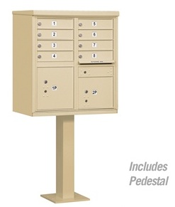 8 Door Cluster Mail Box Unit with Parcel Locker