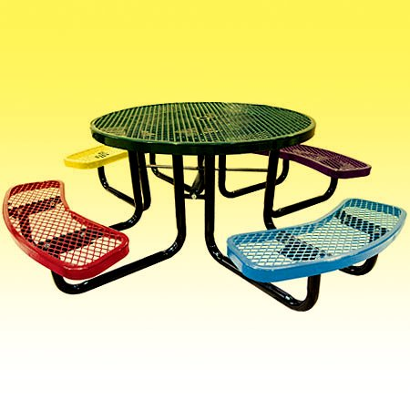 Children's Round Angle Iron Picnic Table