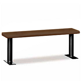 Wood-Locker-Bench-Dark Finish
