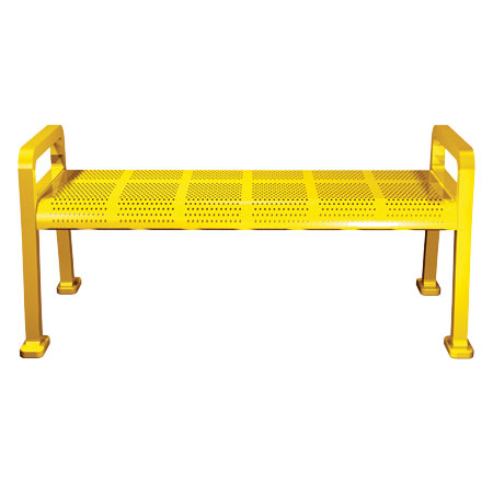 Perforated-Metal-Bench-Backless