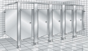 Stainless steel toilet partitions represent the medium to high end of our partition product offerings.