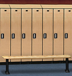 Wood Locker Bench - Light Finish