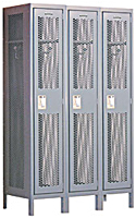 One Tier Extra Wide Vented Metal Lockers