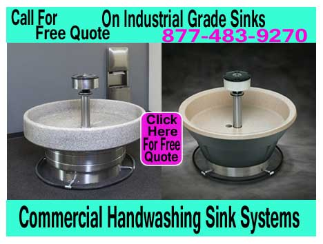 Industrial Grade Sink Systems For Hand Washing