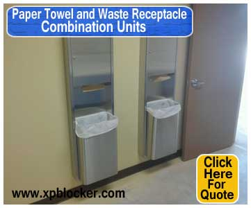 Paper-Towel-and-Waste-Receptacle-Combination-Units