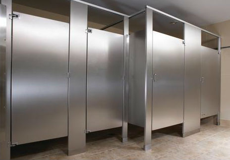 Commercial Bathroom Stainless Steel Privacy Stall
