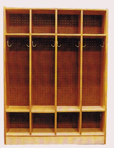 Solid Wood Open Access Athletic Locker