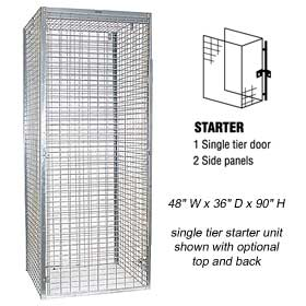 Wire Mesh Storage Lockers - Wide/1 Tier